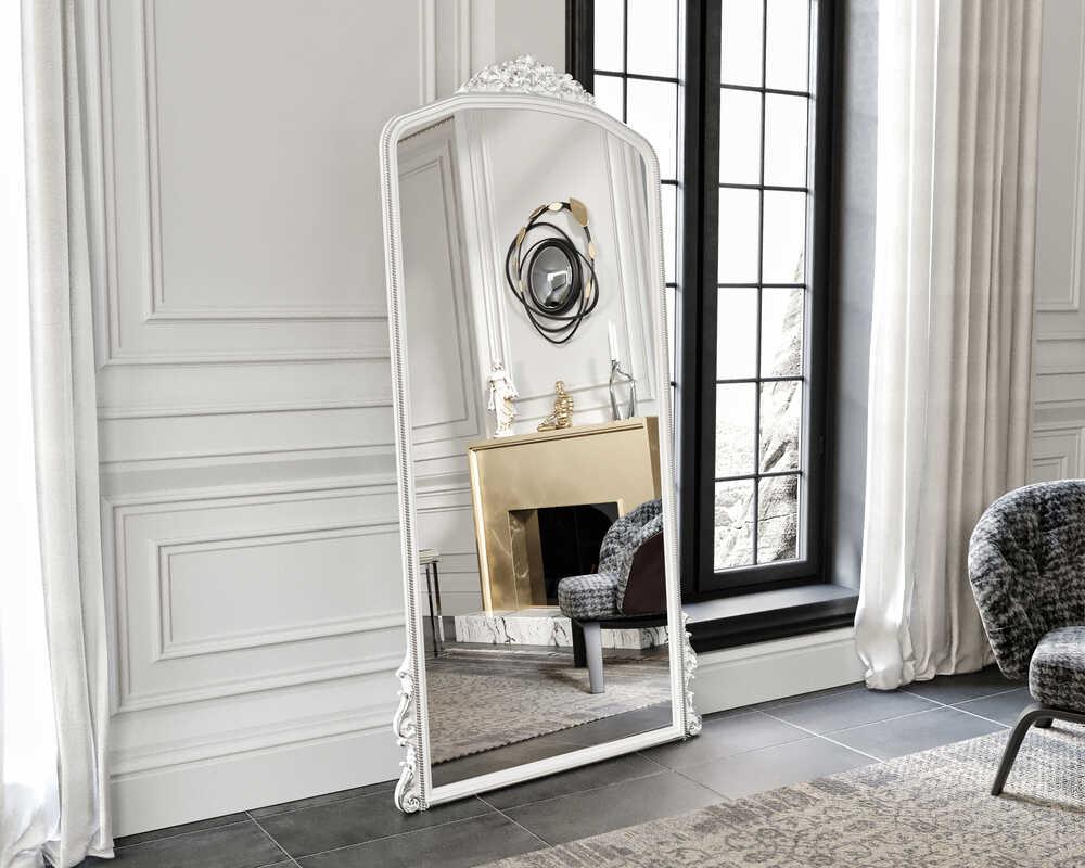 Eva Peron Beyaz 90X190 Ayna