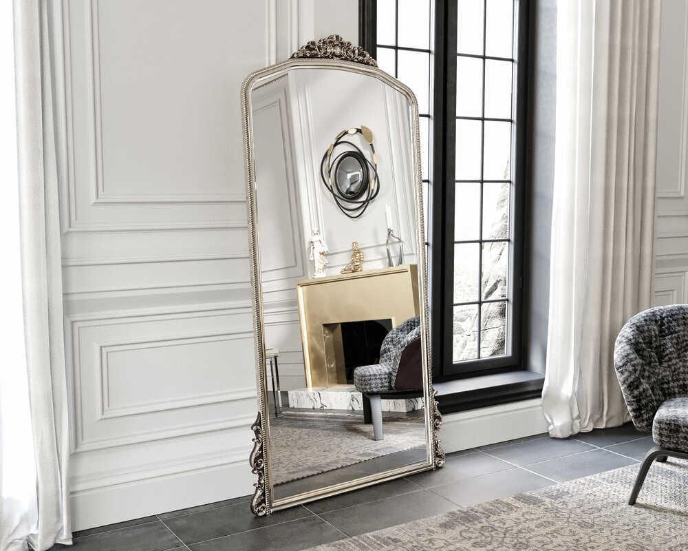 Eva Peron Gümüş 90x190 Ayna