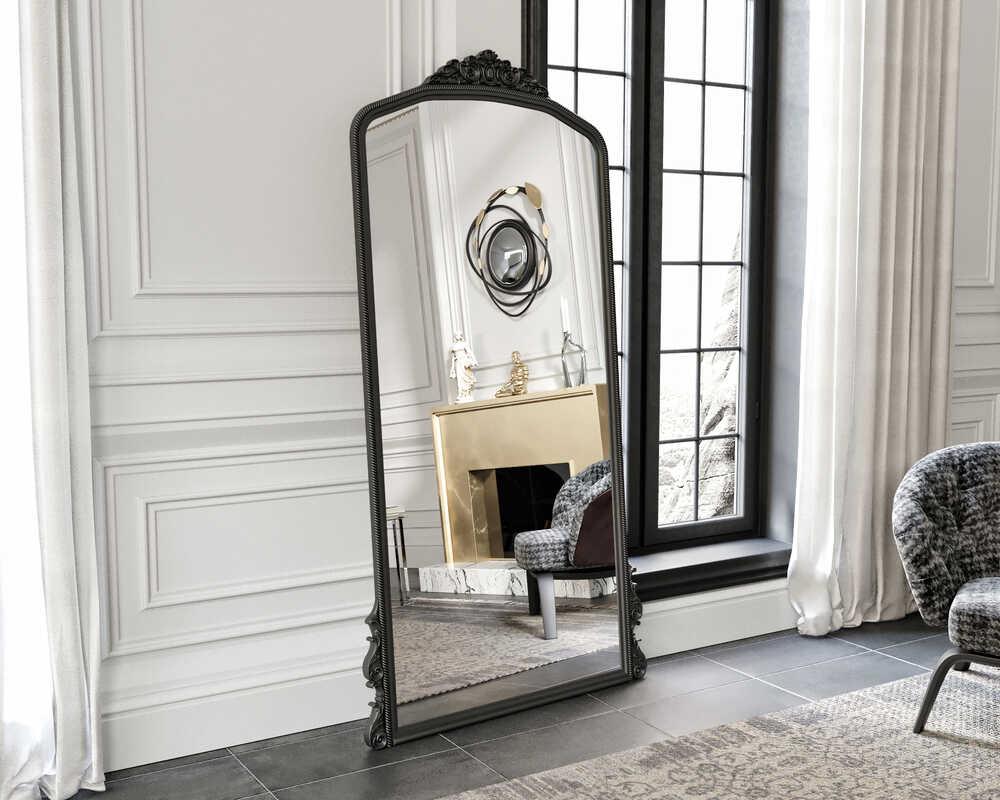 Eva Peron Siyah 90x190 Ayna