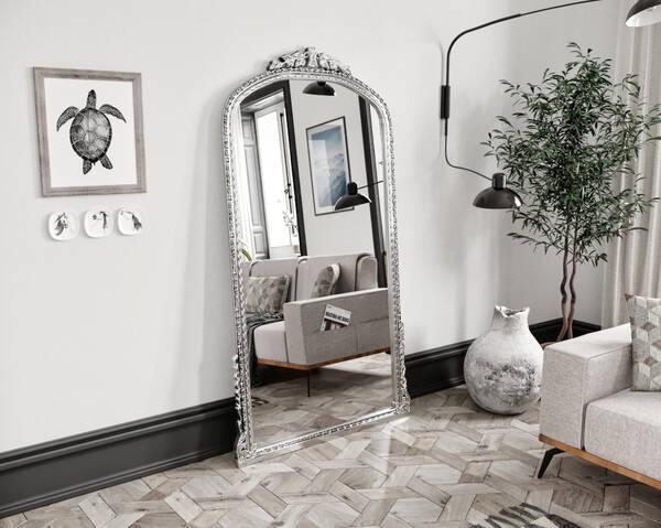 Avokado - Leda Gümüş 100X190 Ayna