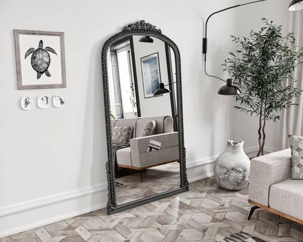 Avokado - Leda Siyah 100X190 Ayna