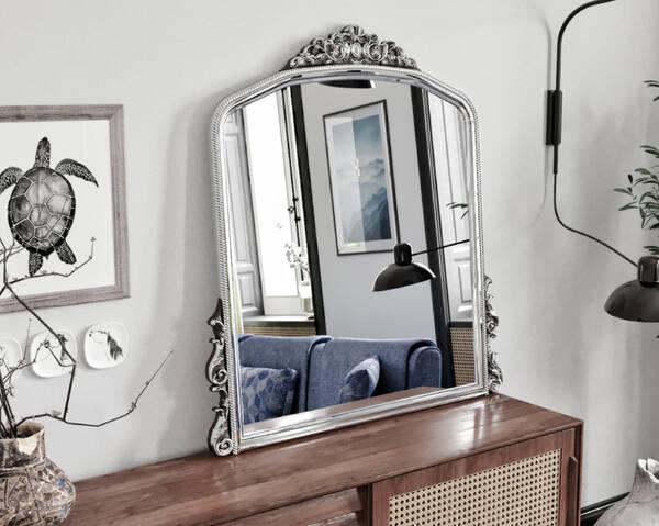 Avokado - Monno Gümüş 90X110 Makyaj Aynası